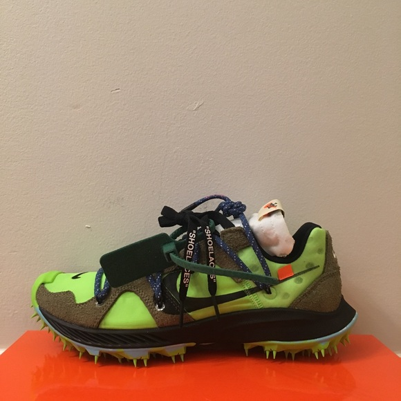 Off White x Nike Zoom Terra Kiger 5 Electric Green Boutique